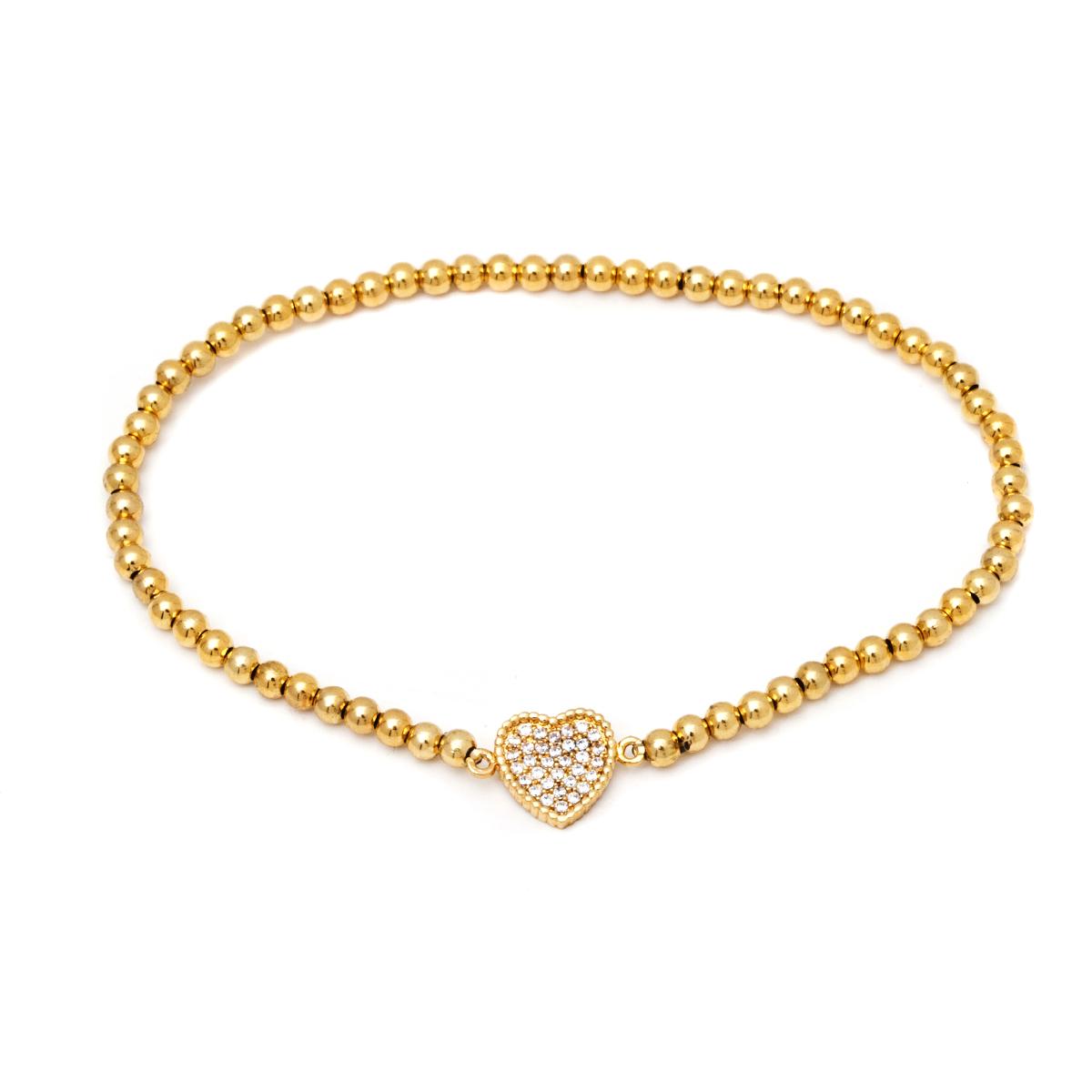 18K Gold and Swarovski Elements Heat Bead Bracelet