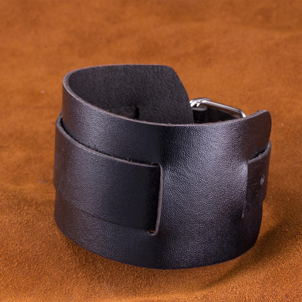 Charcoal Black Intertwined Belt Buckle Cuff Bracelet