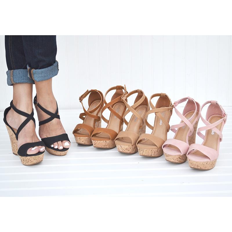 Mata Women s Adjustable Ankle Strap Wedge Platform Sandals