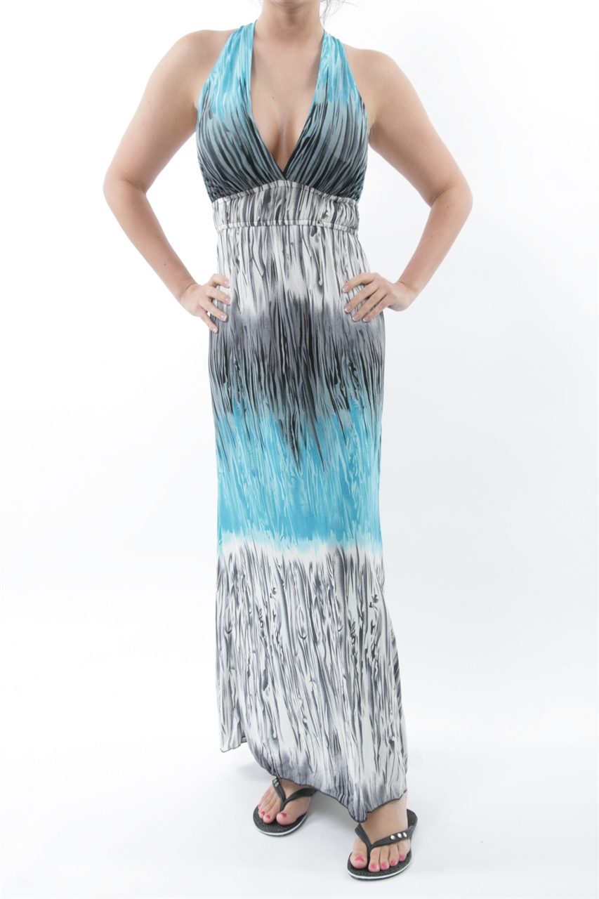 Sultry Deep V-Neck Plunge Maxi-Dress - Assorted Colors