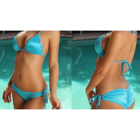 Tan Through Bikini Assorted Colors Tanga