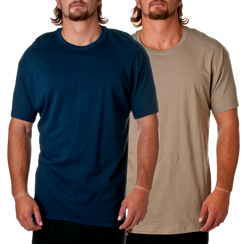 2 Pack Hanes Mens ComfortSoft Short Sleeve Crewneck T-Shirt