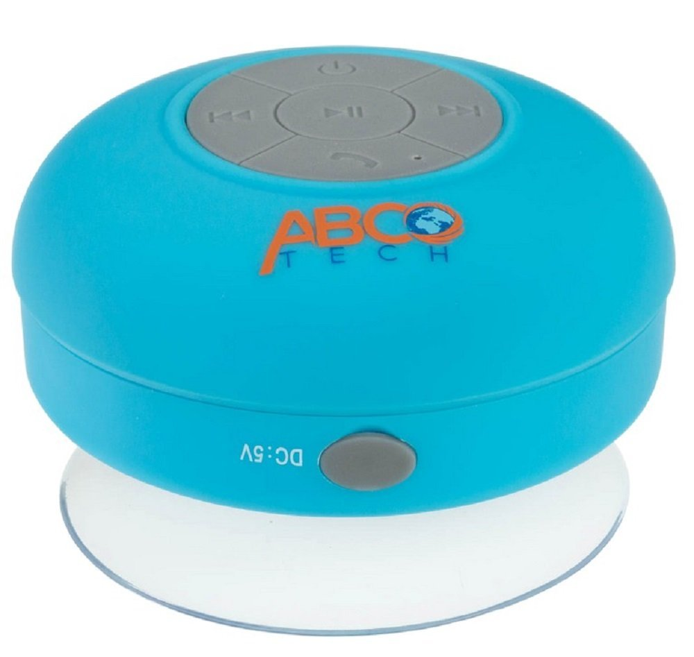 Abco Tech Water Resistant Wireless Shower Speaker with Suction Cup 2da4ffa7f27e