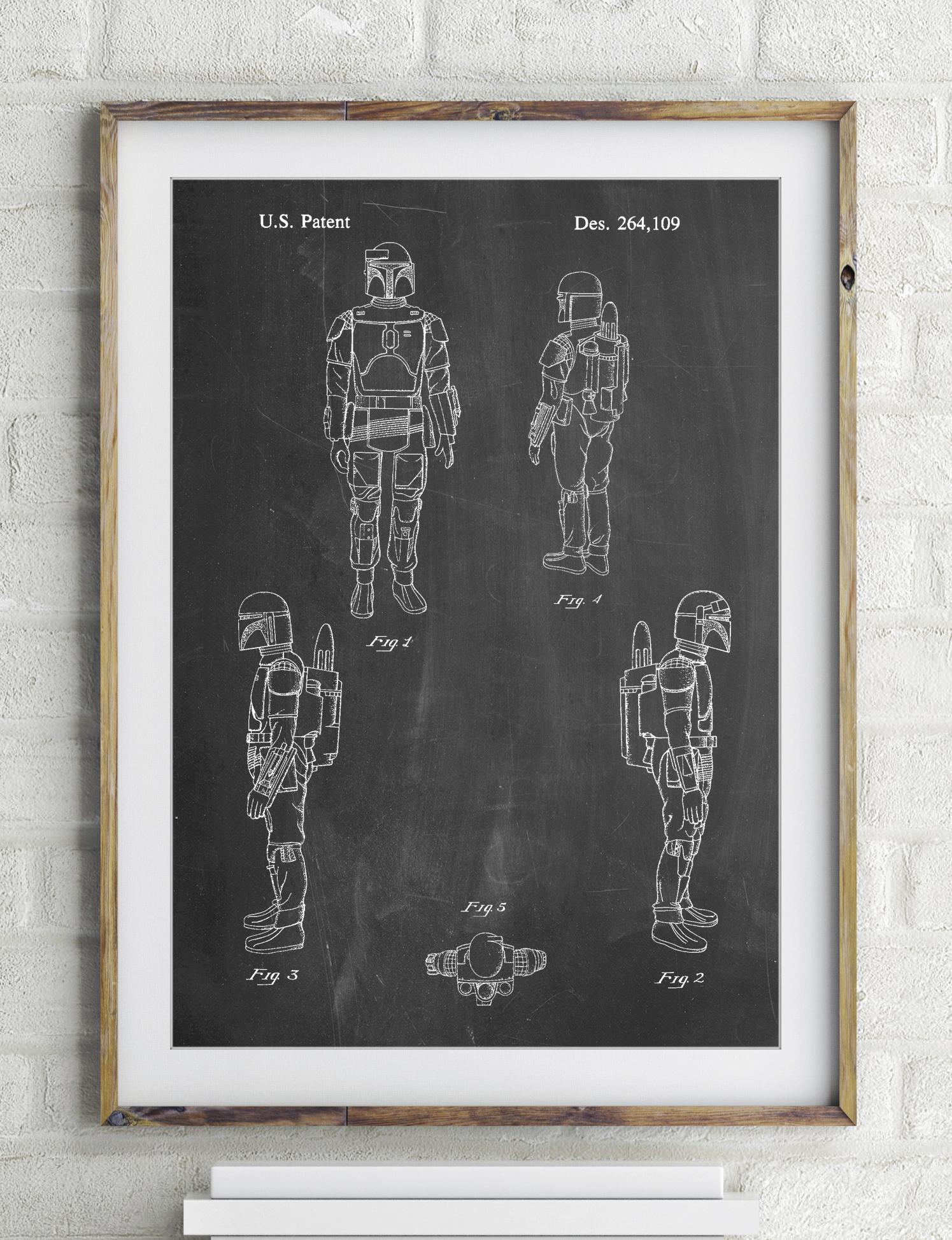 Star Wars Boba Fett Patent Poster 2365426