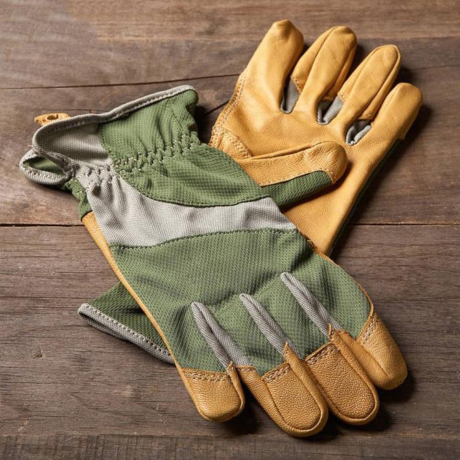 2 Pairs Ethel by Mechanix Wear Women s Bamboo  amp  Leather Garden Glove