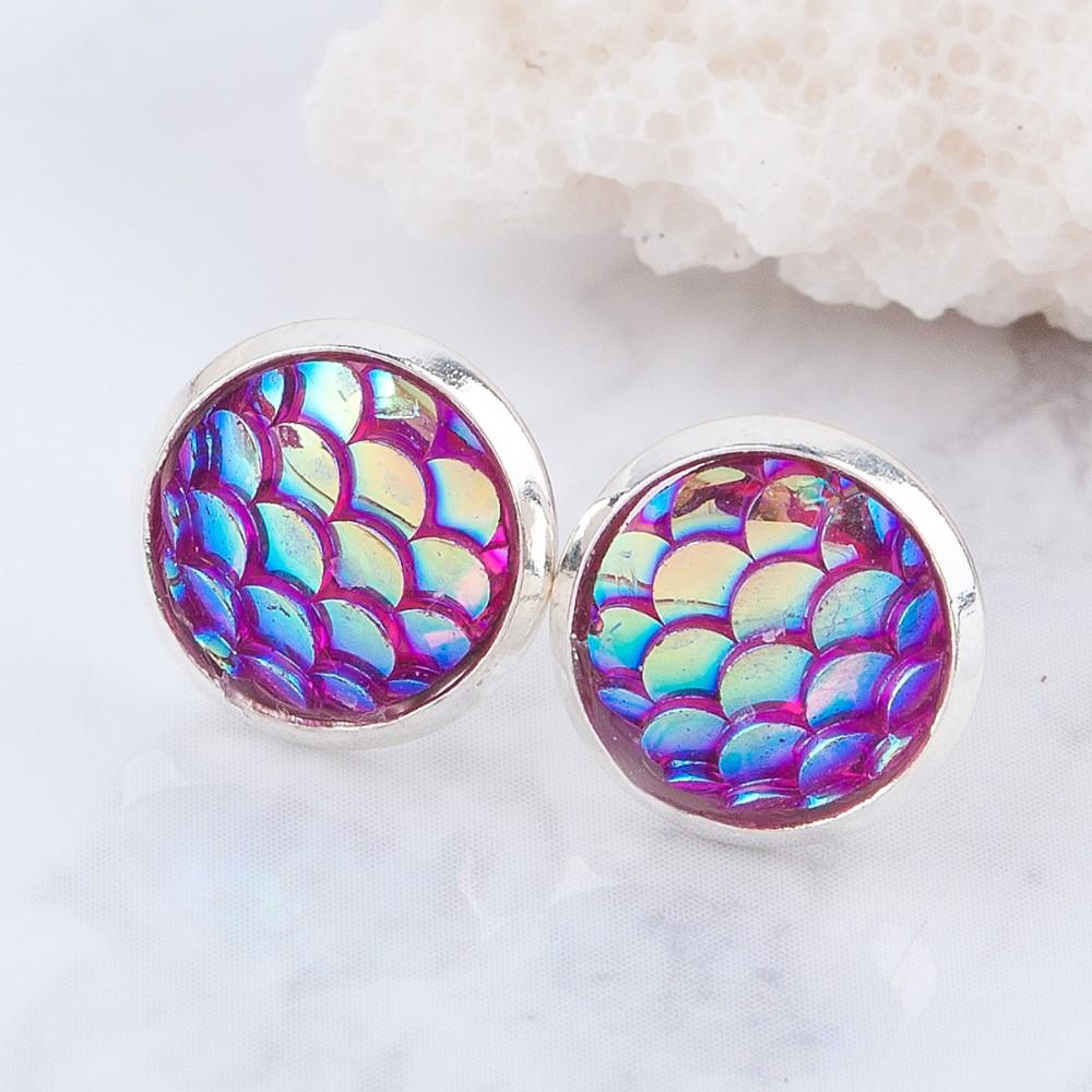 Mermaid Skin Stud Earrings Choose Color Tanga