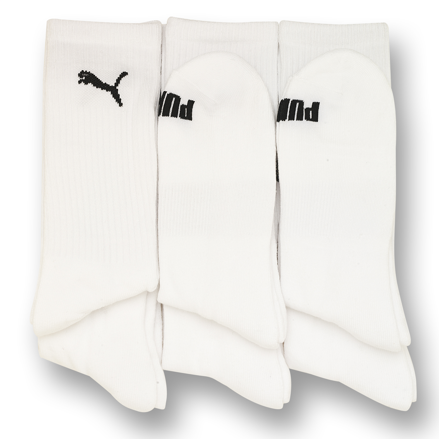6 Pack: Mens Moisture Wicking Puma Crew Socks