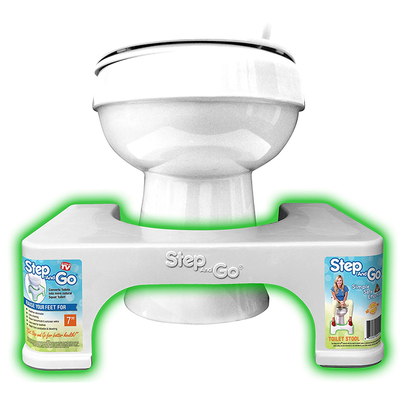 2 Pack Step And Go 7 Quot Toilet Squatty Stool Potty Aid Tanga