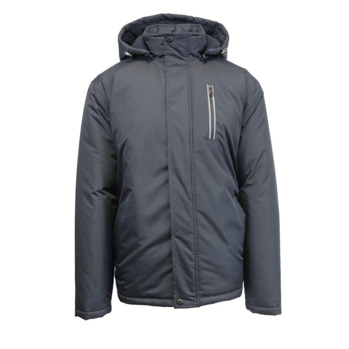 0b456c57000 Spire By Galaxy Men's Heavyweight Jacket With Detachable Hood