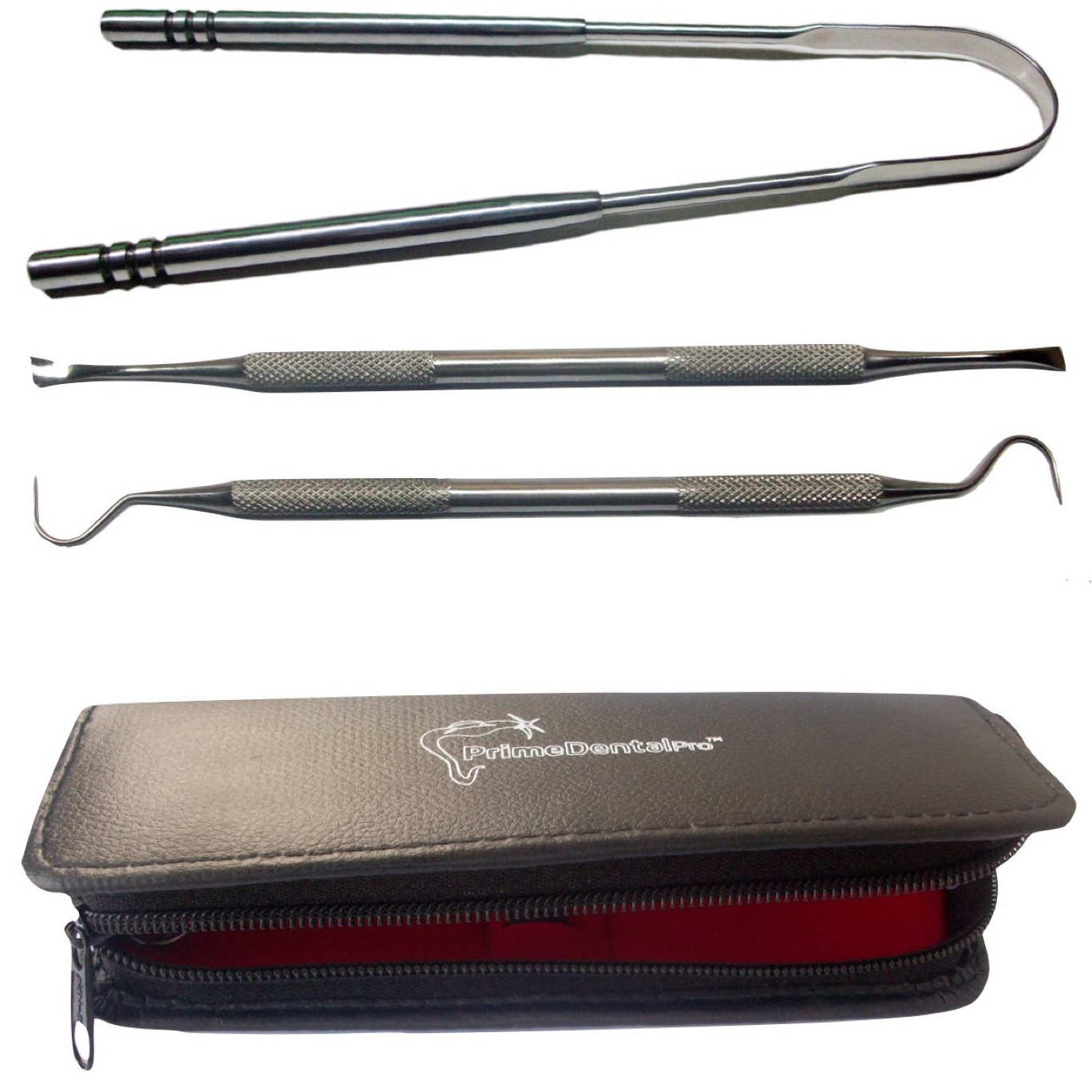 Tongue Scraper and Dental Tools Kit Stainless Steel Set 670031c00530