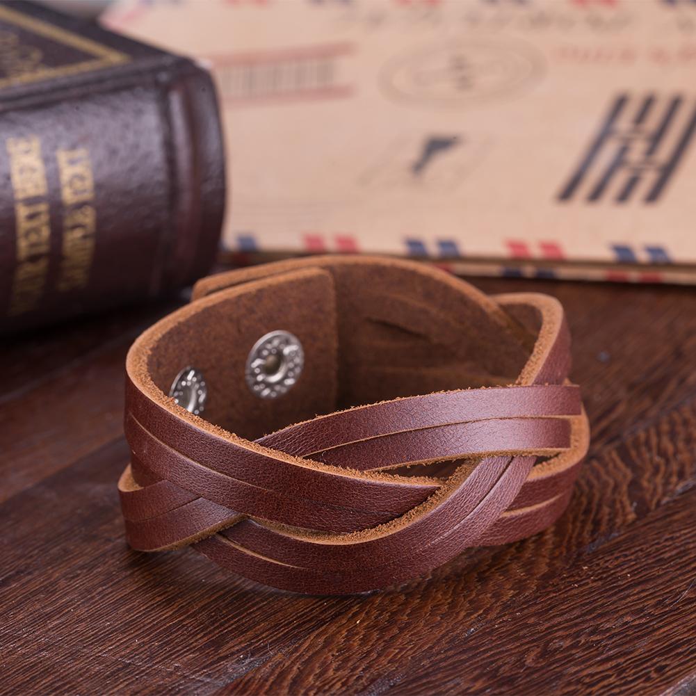 Desert Brown Intertwined Sleek Cuff Bracelet