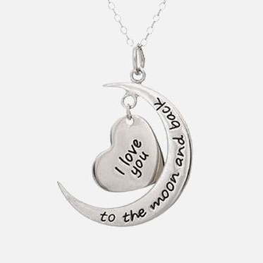 I Love You to the Moon  amp  Back Pendant 173902