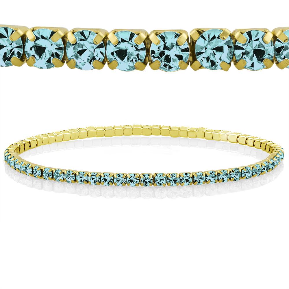 Colored Crystal Tennis Bracelets - 8 Colors