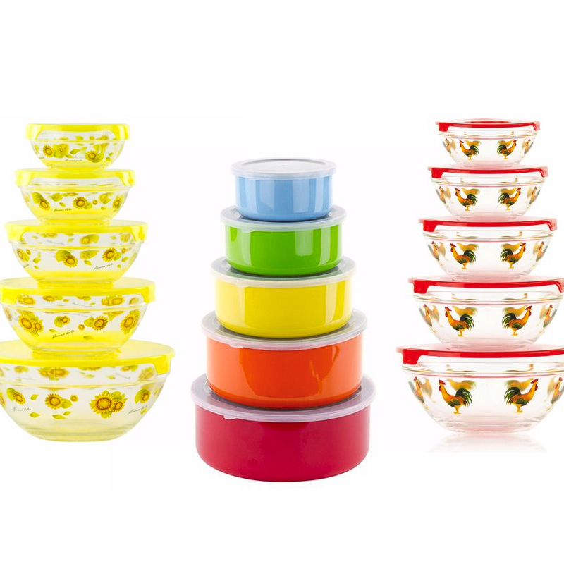 10-Pc. Multi-Purpose Bowls & Snap Lids