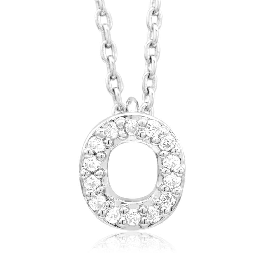 18kt White Gold Plated Swarovski Necklace - O