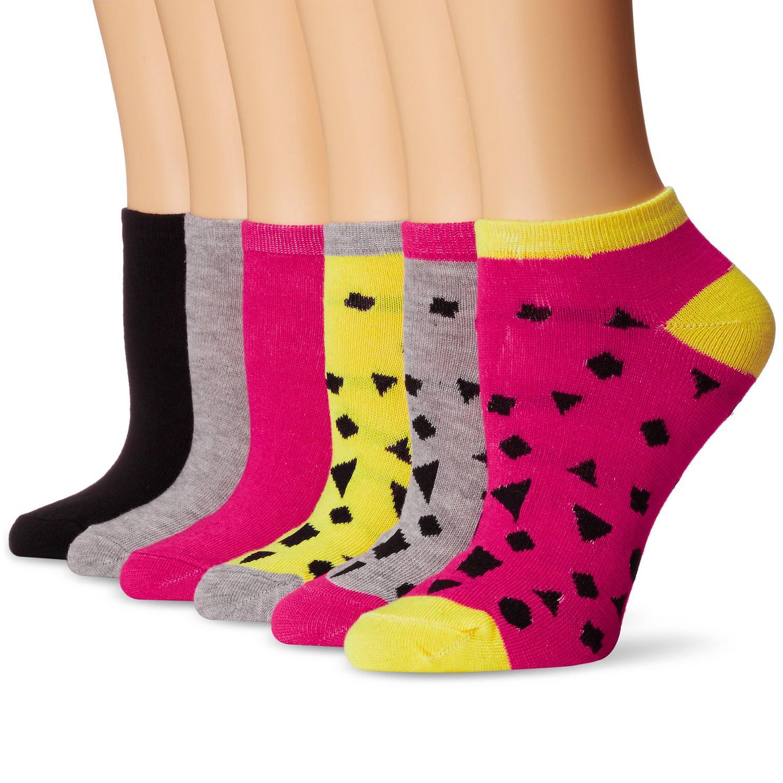 6 Pairs  Steve Madden Women s Sport Ankle Socks