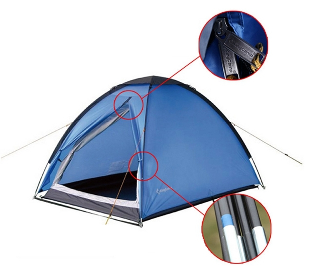 KingCamp 2-Person Lightweight Portable Durable Waterproof Dome Tent