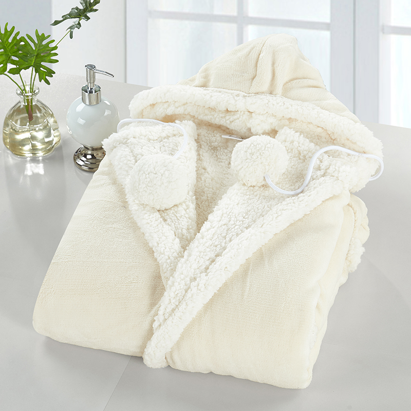 Chic Home Sherpa Lined Hoodie Robe Assorted Styles