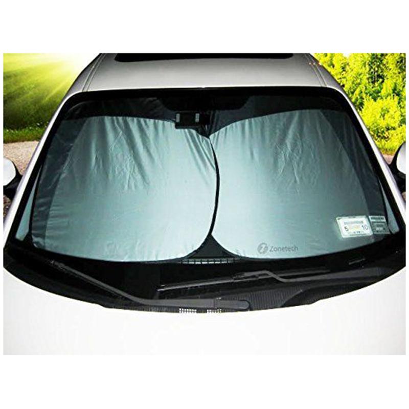 Zone Tech 2x Nylon Car Vehicle Windshield Magic Summer Sun Shade Prote