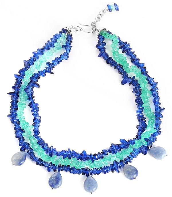 Lapis Lazuli Boho Tear Drop Necklace