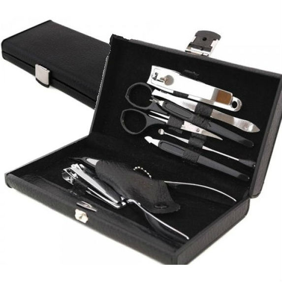 10-Piece Manicure Set with Black Carrying Case