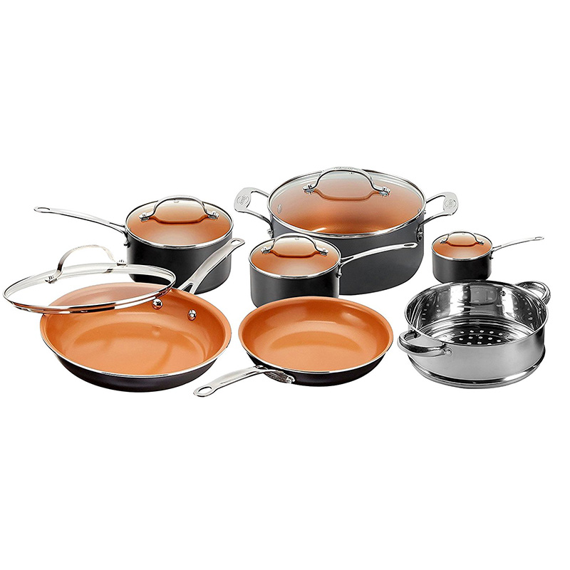 Gotham Steel 12 Piece All in One Nonstick Copper Cookware Set 4bc0d222a444