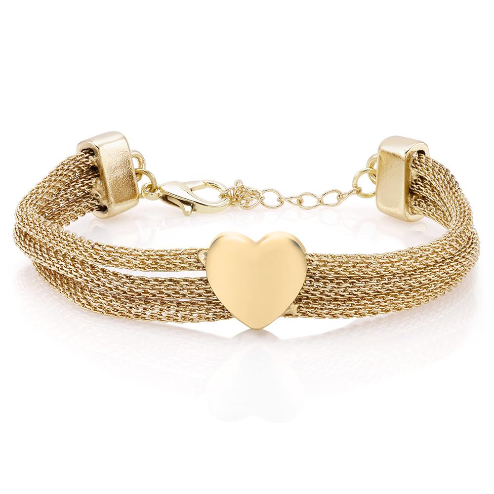 Triple Row Mesh Heart Bracelet - 3 Colors