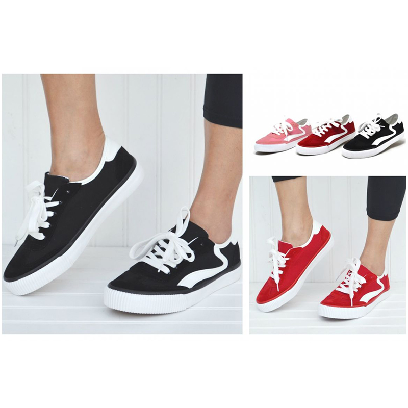 Mata Women s Lace Up Canvas Fashion Sneakers