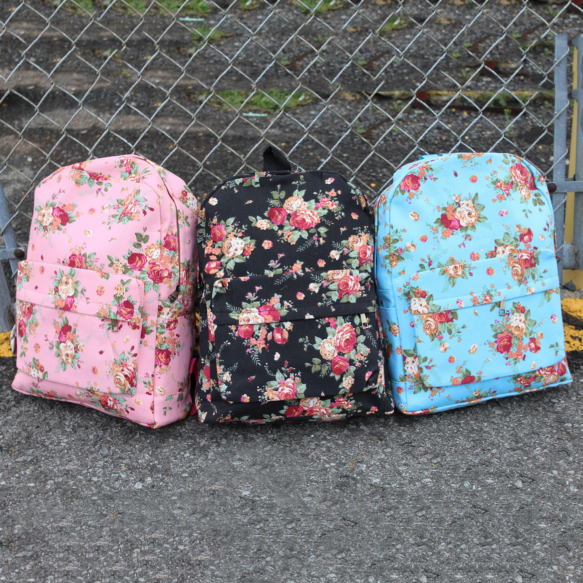 Back To School Floral Backpacks - Assorted Colors