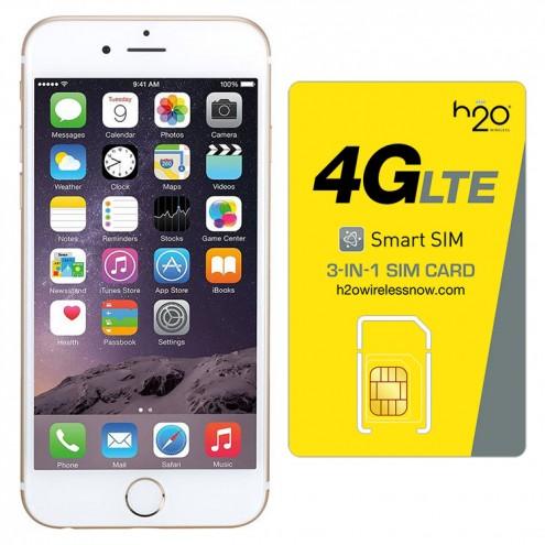Apple iPhone 6 64GB AT amp T Gold w Sim Card