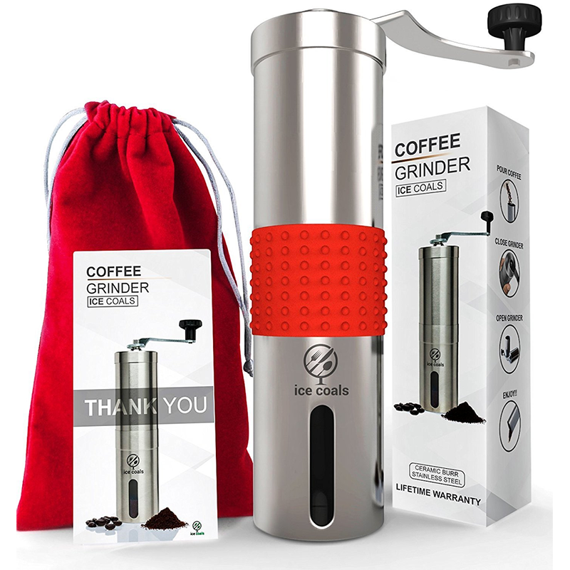 Manual Coffee Grinder with Silicone Grip by Ice Coals 9ec243c091b4