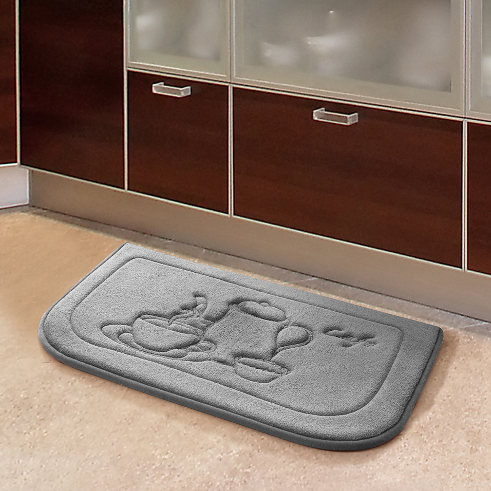 Embossed Chef Memory Foam Kitchen Floor Mat