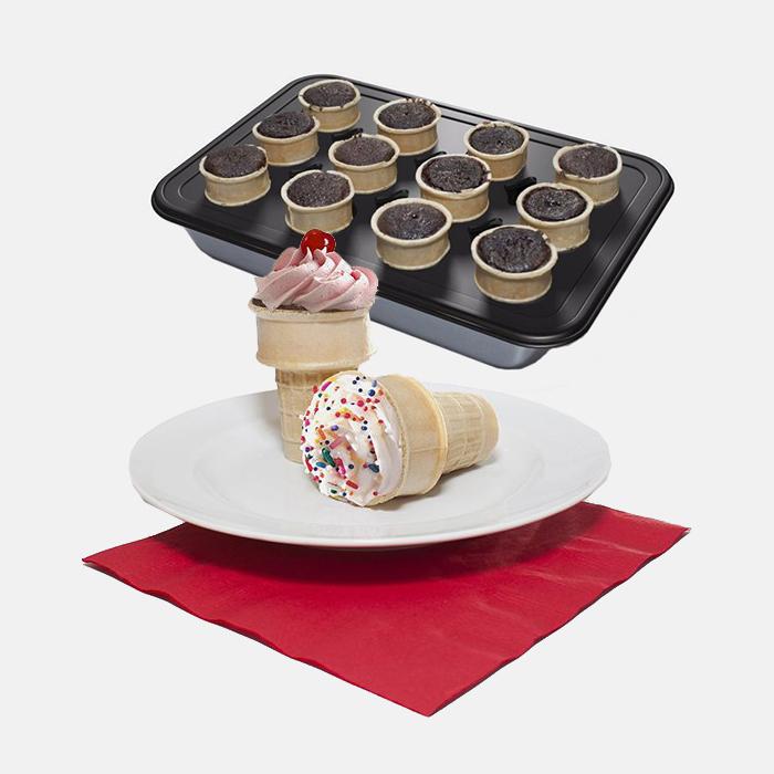 Mrs Fields Ice Cream Cone Cupcake Pan Tanga