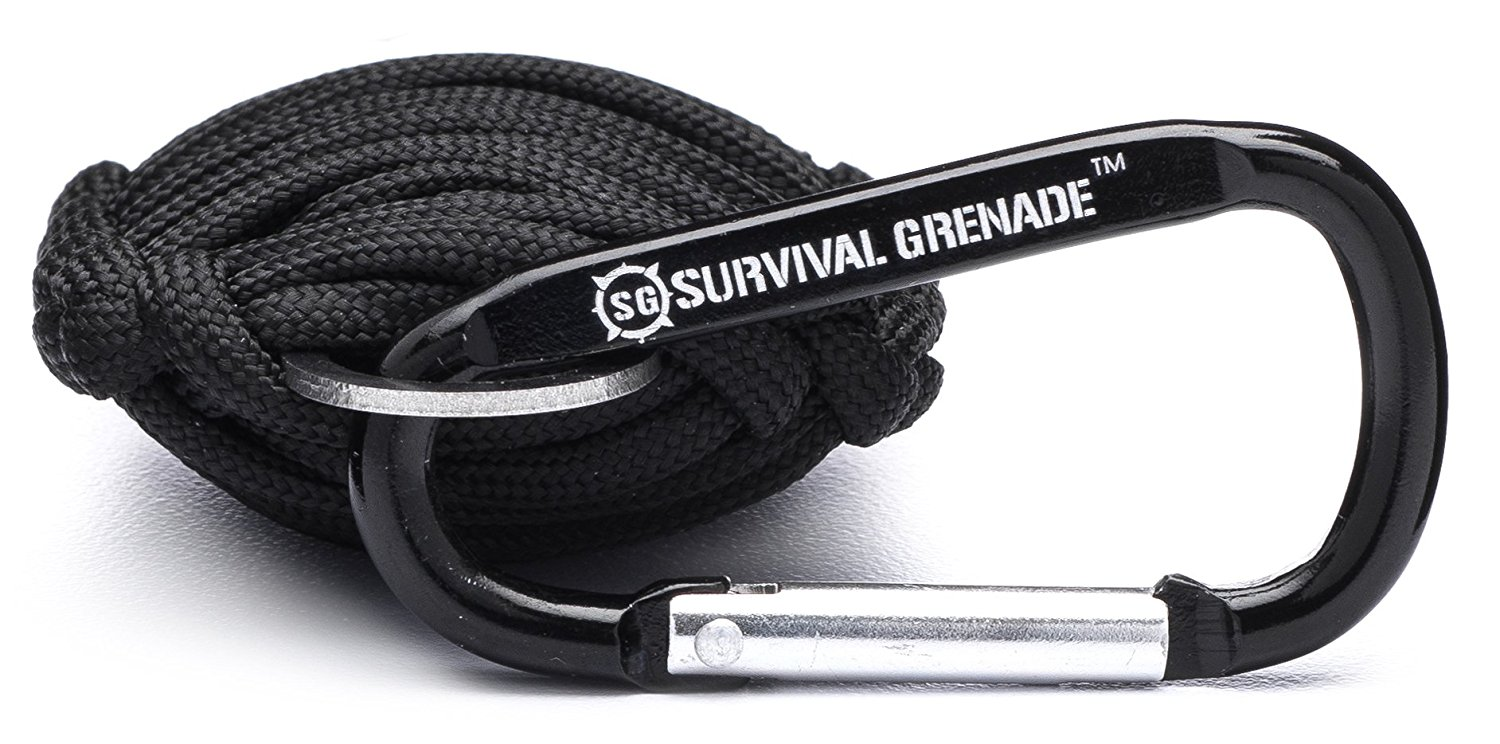 2-Pack Paracord Grenade Emergency Key Chain w  8  Tools Survival Kit