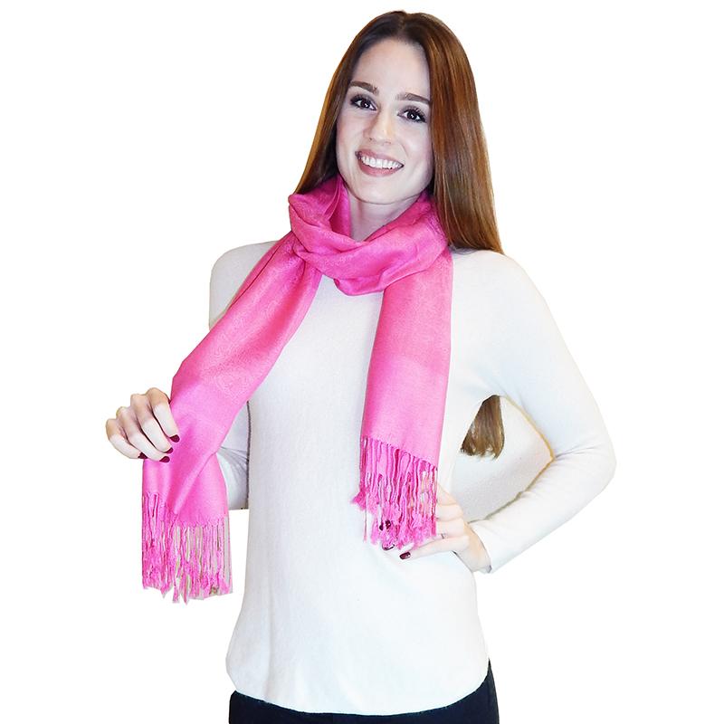 Vecceli Italy Silk Blend Paisley Pashmina Scarves 3242175
