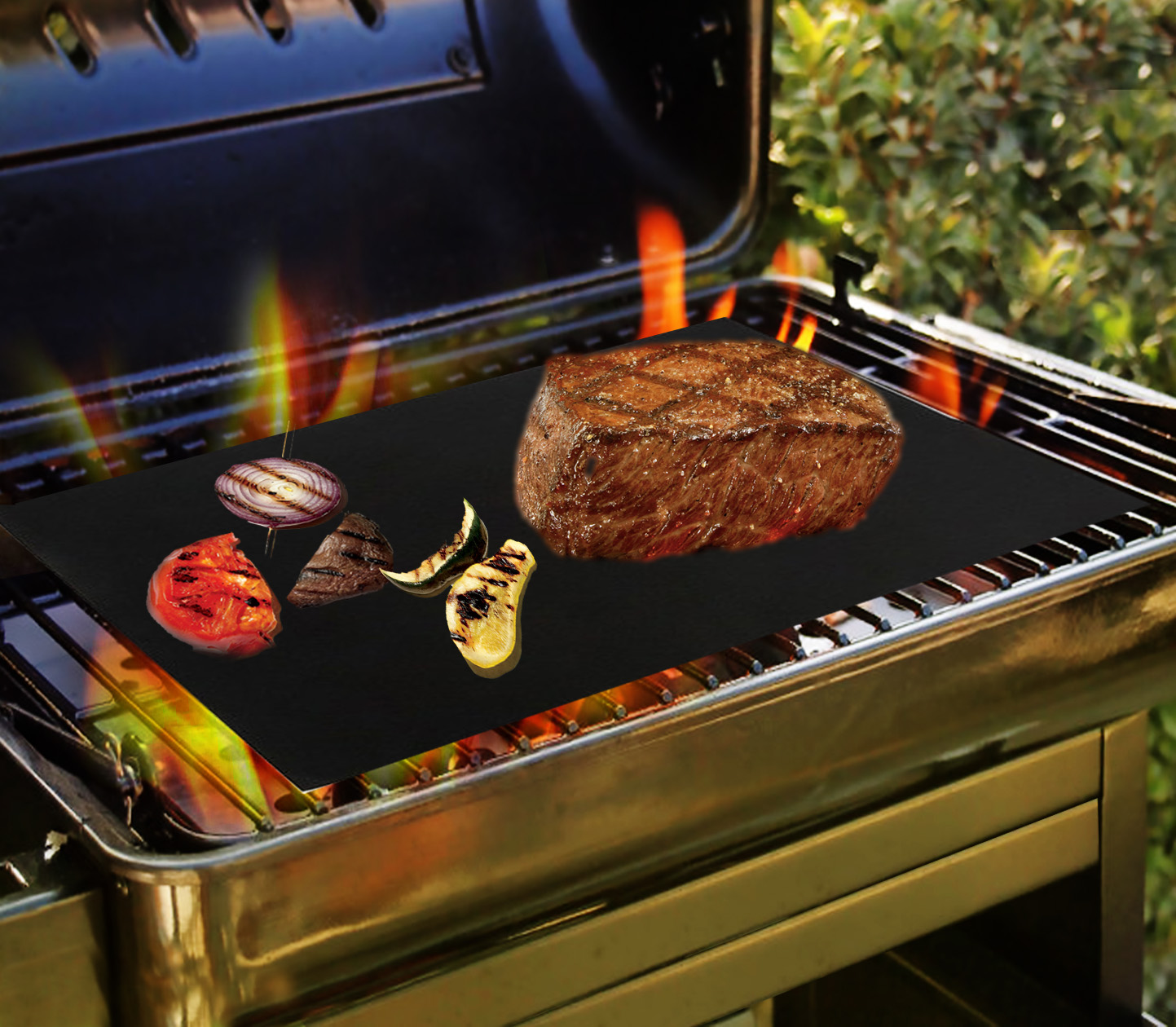 2-Pack BBQ Grill Mat Heavy Duty Non Stick Reusable