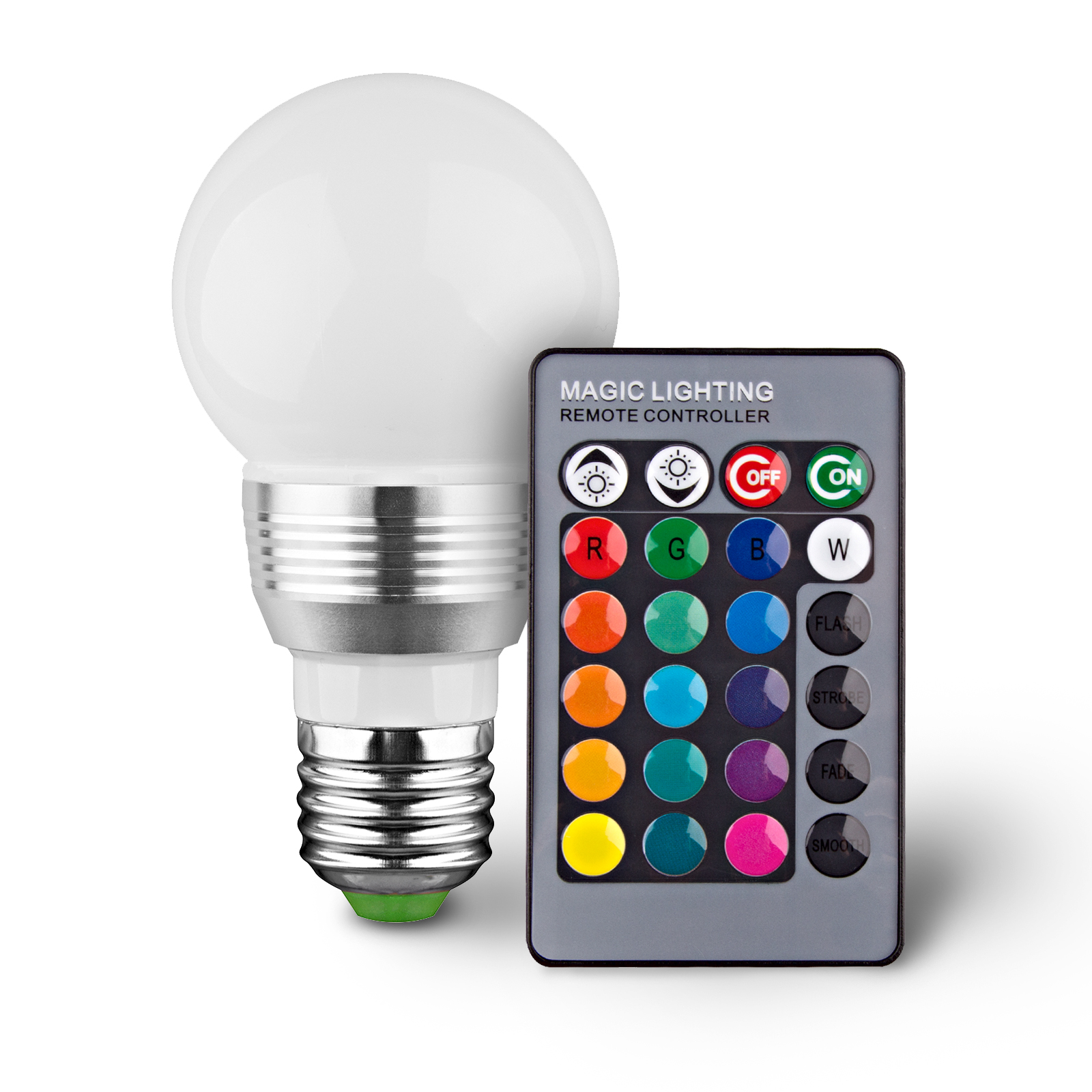 led remote controlled color changing light bulb tanga. Black Bedroom Furniture Sets. Home Design Ideas