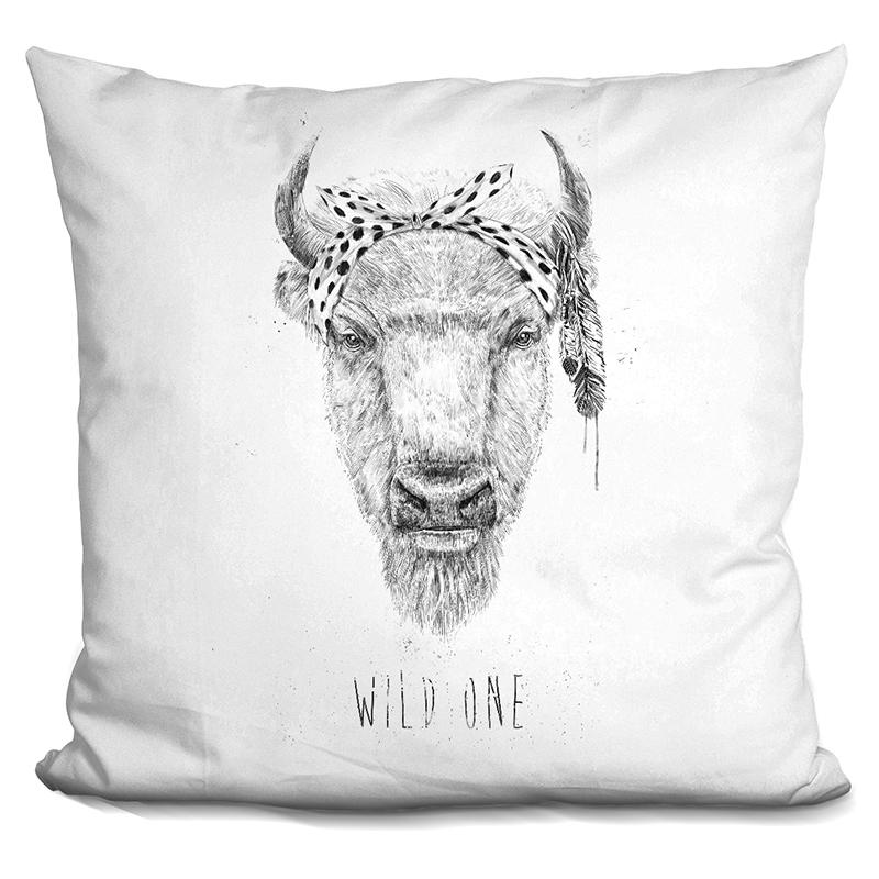 Balazs Solti  Wild One  Throw Pillow