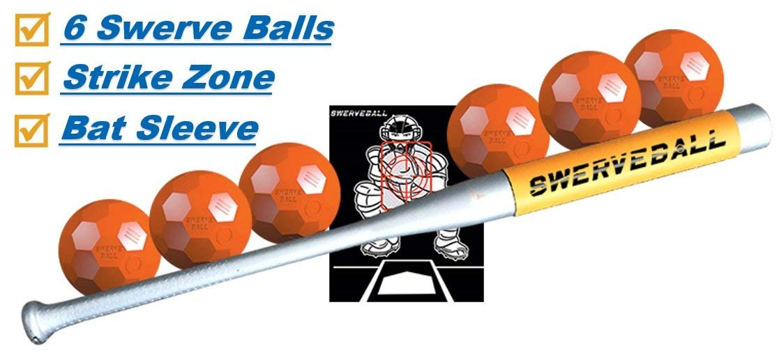 Swerve Ball Plastic Baseball Combo Starter Set