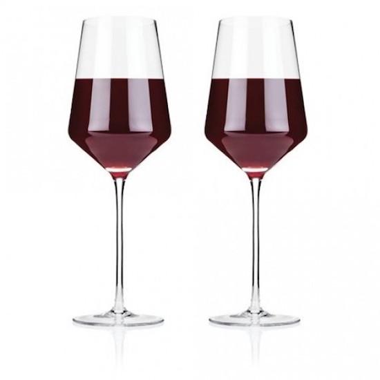 Raye Crystal Bordeaux Glasses (Set of 2) by Viski da3a6be1ad04