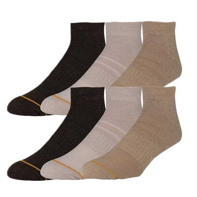 6-Pack Men s Gold Toe Designer Ankle Socks Set