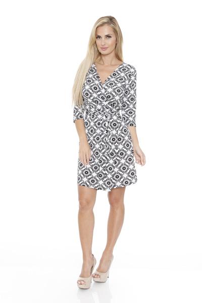 White Mark Women s  Mariah  Wrap Dress - Batik