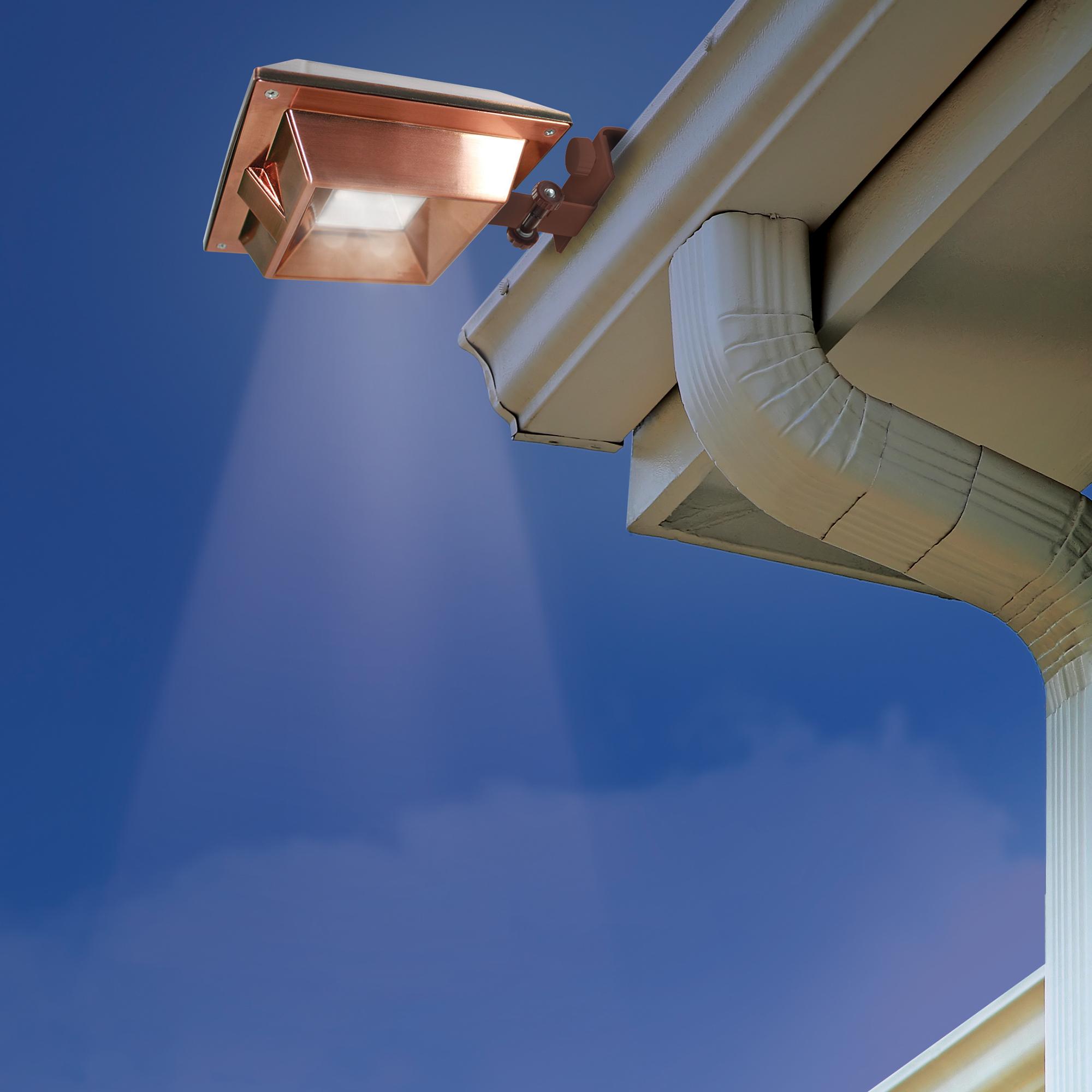Landscape Lighting Gutter Mount: 6-Pack Ecothink Copper Square Outdoor Solar 6 LED Gutter