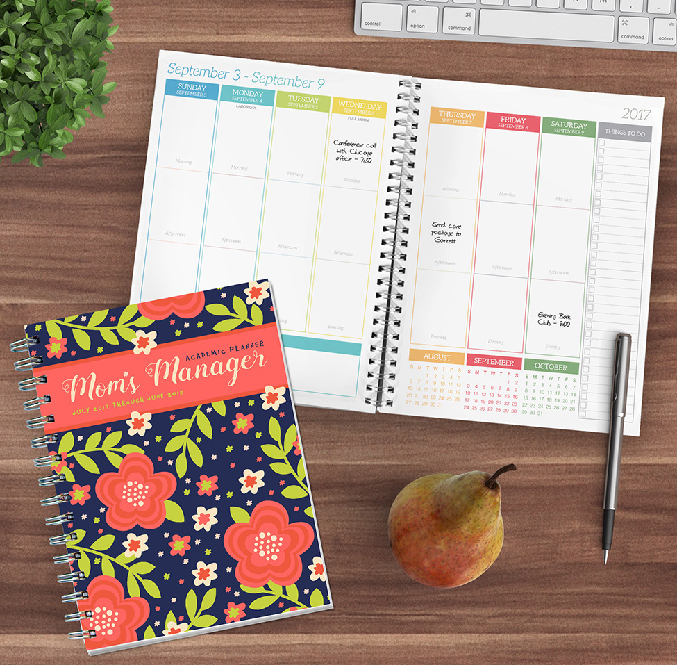 2018 Academic Year Mom s Manager Medium Weekly Monthly Planner