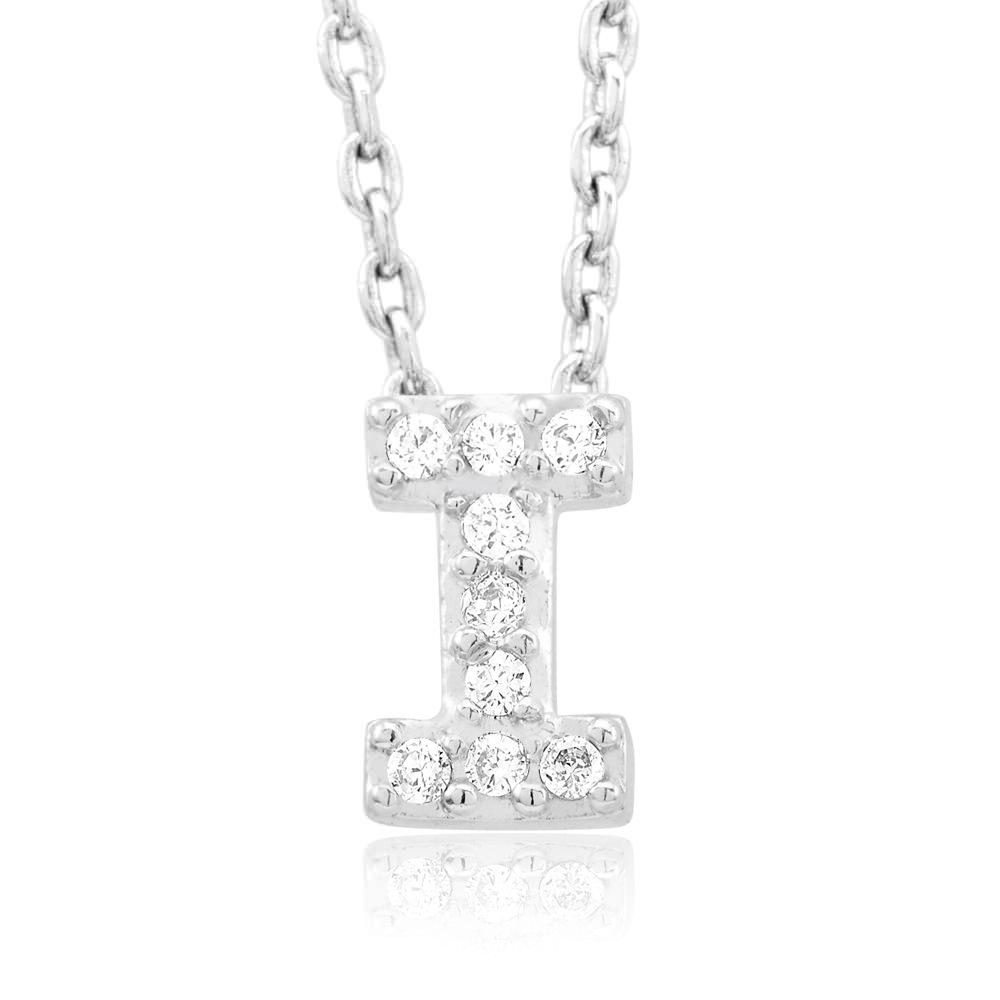 18kt White Gold Plated Swarovski Necklace - I