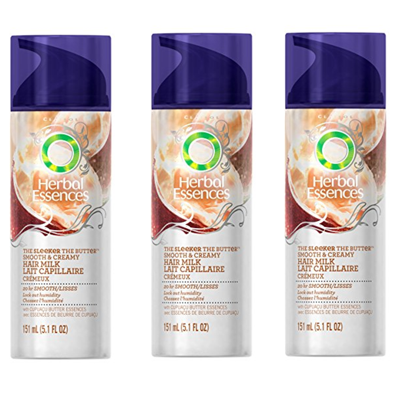 3-Pack Herbal Essences Sleeker, The Butter Smooth  amp  Creamy Hair Milk 5