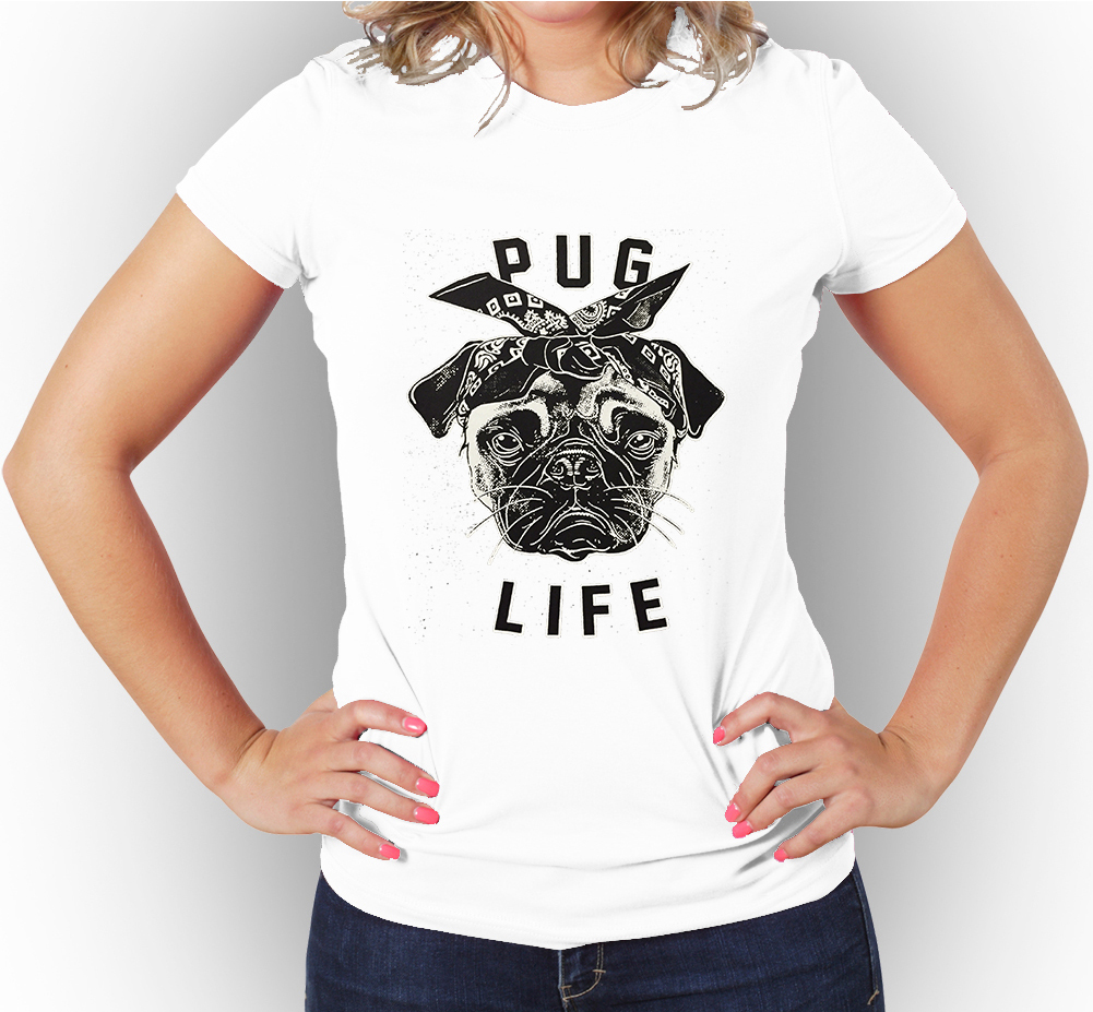 Pug Life  Women s Graphic T-Shirt