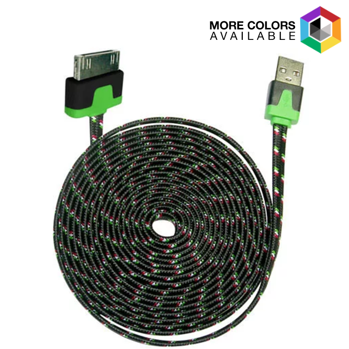 3-Pack  iCover 10ft Flat Shoelace Cable - 30 Pin