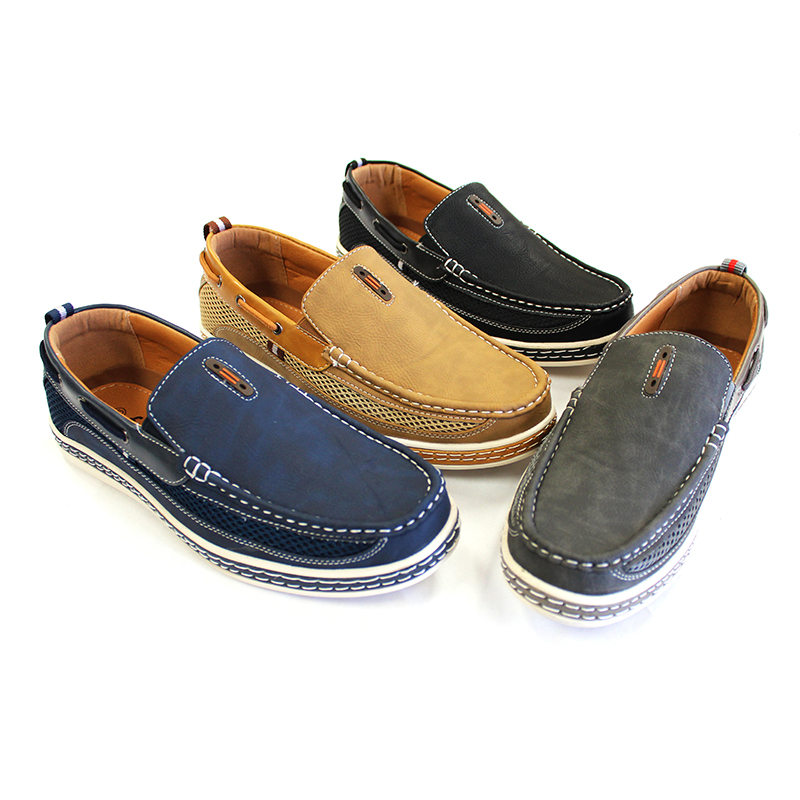 Nautical-Inspired Leather Casual Men's Loafers