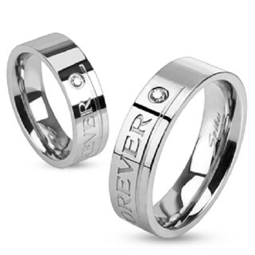 Love You Forever  Engraved Stainless Steel Ring